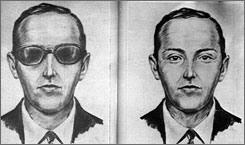An artist's sketch released by the FBI of the skyjacker known as 'D.B. Cooper', from the recollections of passengers and crew of a Northwest Orient Airlines jet he hijacked between Portland and Seattle, Nov. 24, 1971.