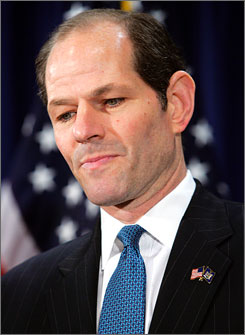 Former N.Y. governor Eliot Spitzer is under renewed scrutiny after a prosecutor said Friday that he may have lied about releasing travel documents that implicated his political rival, Senate Republican leader Joseph Bruno.