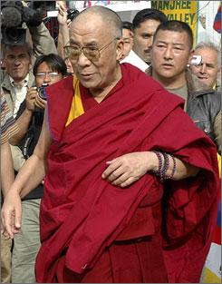 Tibetan spiritual leader Dalai Lama arrives in Dharamsala, India.