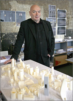 Jean Nouvel's future plans include designs for a tower alongside New York's Museum of Modern Art and a narrow condo building dubbed the &quot;Green Blade&quot; in the Century City area of Los Angeles .