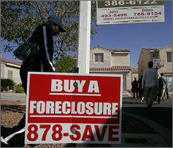 Some economists critical of a Senate bill meant to ease the foreclosure crisis might actually encourage it by creating incentives for banks to foreclose on homes instead of renegotiating new terms with homeowners.