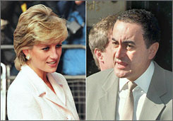 The late Diana, Princess of Wales, in March 1996 and the late Dodi Al Fayed in July 1997. The couple died in Paris in August 1997 in a car crash. Al Fayed's father, Mohamed Al Fayed, has abandoned his efforts to prove the couple was murdered.