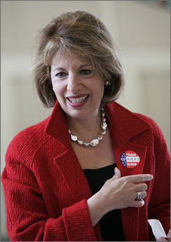 Jackie Speier -- seen here after voting in a special election in San Mateo, Calif., on Tuesday -- has won the House seat of the late Rep. Tom Lantos.