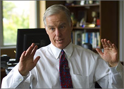 Howard Dean has been the Democratic national chairman since Feb. 12, 2005.