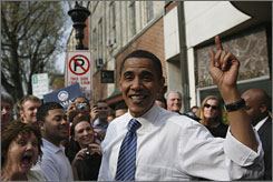 Sen. Barack Obama visited Bethlehem, Pa. on Sunday.