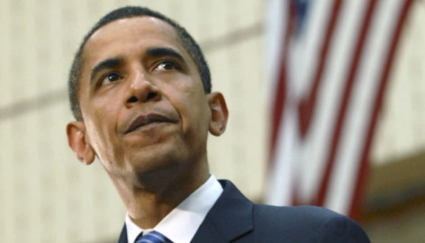 Sen. Barack Obama, D-Ill., addresses supporters at a town hall meeting in Reading, Pa., on Sunday.