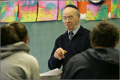 "Jay Sommer, 81, now a Hebrew teacher at Beth El Synagogue in New Rochelle, N.Y., helped write ""A Nation at Risk"" in 1983."