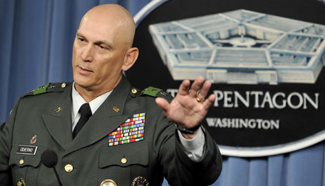 Lt. Gen. Ray Odierno discusses Iraq during a March 4 press briefing at the Pentagon. Odierno, the current second in command in Iraq, will be nominated to replace Gen. David Petraeus to lead U.S. forces in Iraq.