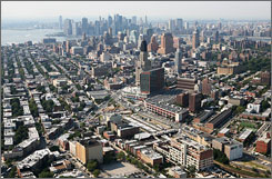 New York, seen here, has the second-highest population density of U.S. cities with at least 50,000 people, according to the 2000 Census. Only Union City, N.J. has more people per square mile, the Census found.