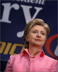 Democratic presidential hopeful Hillary Rodham Clinton, the senator from New York, addresses workers at the Duneland Falls Steelworkers Union Hall on Wednesday in Portage, Ind.