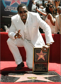 Sean  Combs receives a star on the Hollywood Walk of Fame  Friday.