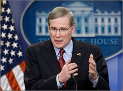 U.S. National Security Advisor Stephen Hadley discusses President Bush's trip to the Middle East next week. Bush is scheduled to travel to Israel, Saudi Arabia and Egypt.