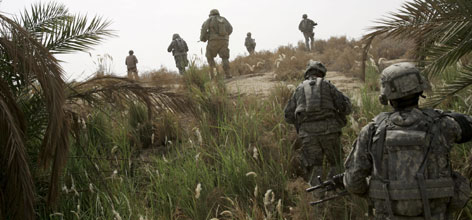 U.S. troops head out on foot patrol south of Baghdad. Of the 1.6 million servicemembers sent to Afghanistan and Iraq, more than 43,000 have been deemed medically unfit for combat, according to Pentagon records.