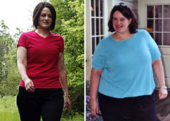 Heather Burczynski's before, right, and after photos.