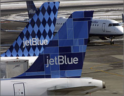 A man is suing JetBlue Airways Corp. after he was made to sit on a toilet on a flight from New York to San Diego.