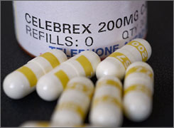 In Alzheimer's-prone study participants, the Celebrex takers scored slightly lower than the placebo takers on most tests.