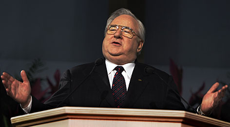 "Rev. Jerry Falwell, known as the founder of the ""religious right,"" died May 15, 2007 at the age of 73. His sons now lead his church and university."