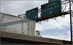 Crosstown Expressway, an elevated 4.5-mile stretch of Interstate 40, will be demolished in 2012.