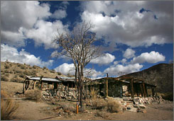 The Barker Ranch house in the Panamint Mountains west of Death Valley National Park, Calif., where Charles Manson was arrested. Authorities planned on searching the property for more victims of the convicted killer.