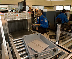 A policy likely to take effect in a few months would allow passengers to put certain types of cases through airport X-ray machines with laptops inside.