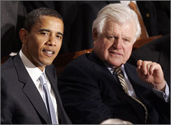 Obama and Kennedy talked earlier in the week about the Illinois senator delivering the speech where Kennedy's stepdaugther will be graduating.