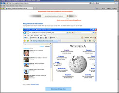 In this screen shot provided by Minggl, an example of one way Minggl's service works to aggregate one's various social networks is shown.