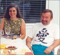 Professor Jerzy Nowak and his late wife, Jocelyne Couture-Nowak, who was among the victims in the April 2007 Virginia Tech shooting massacre.