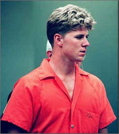 Dustin Turner, a former Navy SEAL trainee, is trying to clear his 1996 conviction for abducting, sexually assaulting and murdering a college student. Here, Turner is seen walking into a courtroom in Virginia Beach, in June 1995, in the case against him.