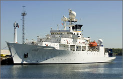 USNS Pathfinder, an oceanographic survey vessel, arrives to help in the search for a Finnish airliner with a missing American courier on board. The plane crashed into the Baltic nearly 7 decades ago.
