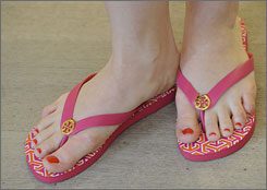 Justin Shroyer, author of a recent Auburn University study, said those with leg or feet pain should limit their use of flip-flops.