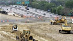 The I-277 interchange in Charlotte, N.C. has been undergoing construction work recently. By one estimate, North Carolina is $65 billion short of the money it needs to fix those road woes and the many others that will pop up in the next 20 years.