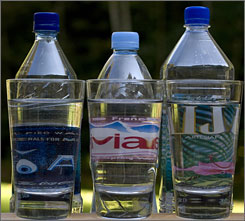 According to the International Bottled Water Association, 8.8 billion gallons of bottled water were sold worlwide in 2007.