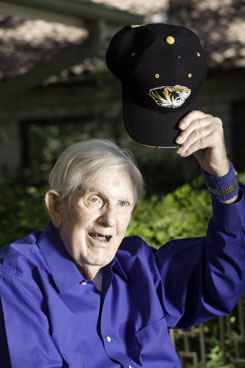 Kenneth Shepherd, 95, received a degree from the University of Missouri this year, where in his youth he failed to pass a speech course required for graduation. Sue Alborn, his daughter, asked the university to grant her dad the diploma as a Father's Day gift.