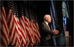 Presumptive Republican presidential nominee John McCain, the senator from Arizona, on Tuesday blasted the economic proposals of his Democratic rival, Barack Obama, the senator from Illinois. McCain made the comments during a business summit in Washington.