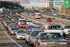 Congestion seen here on I-95 near Springfield, Va.  costs $78 billion in delays and wasted fuel each year, according to a September report from the Texas Transportation Institute, a research arm of Texas A&M University.