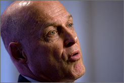 "Treasury Secretary Henry Paulson on the economic crisis: ""The possibility that I might be sitting here in the middle of all this didn't seem that unlikely to me."""
