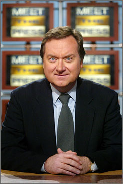 Tim Russert's response when asked to moderate NBC's Meet the Press: 'Look, I can't do it. I'm ugly.'