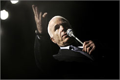 "Sen. John McCain, R-Ariz., speaking at a town hall meeting in Fresno, Calif., on Monday, calls the U.S. taxpayer-funded reward ""a small price to pay for helping to break the back of our oil dependency."""