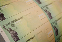So far, 1.8 million rebate checks have been intercepted by Treasury Department computers showing that individuals owe money to federal or state governments.