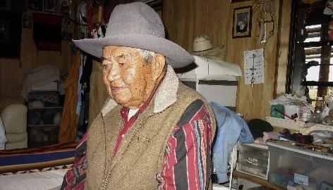 Ram Herder, 89, is shown on May 22 in his Sanders, Ariz. home, a home that was purchased by the federal government as part of a massive relocation project to move Navajos from land Congress said belonged to the Hopi Tribe.