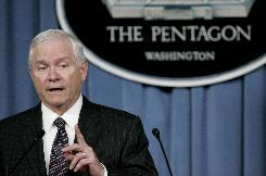 U.S. Secretary of Defense Robert Gates speaks at the Pentagon Wednesday.