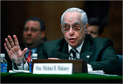 Attorney General Michael Mukasey testified in the Senate Wednesday that the administration wants the government up to speed with anti-terror tools, and at the same time wants to respect Americans' privacy.