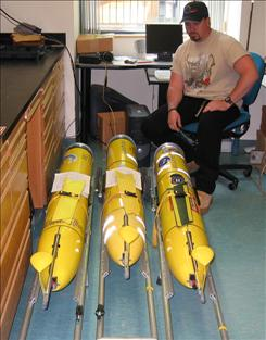 Rutgers University in New Jersey houses the little yellow remote-controlled submarine that can provide the same type of data without people aboard that would normally be gathered by ships.
