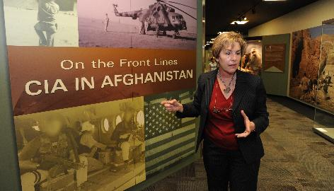 Toni Hiley, curator and director of the CIA Museum, said the museum, which is not open to the public, is meant to support the CIA's mission and intelligence operations. Here, Hiley talks about an exhibit currently on display that chronicles the agency's work in Afghanistan.