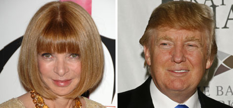 Vogue editor Anna Wintour, left, and businessman Donald Trump, right, are prominent bundlers. Wintour backs Barack Obama; Trump supports John McCain.
