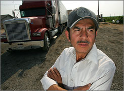 Truck driver Manuel Castillo, 50, was given a $500 ticket in Alabama for speaking  English well enough with an officer.