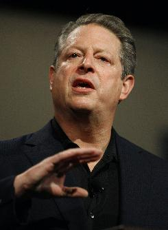 Former Vice-President Al Gore speaks during a meeting held by Netroots Nation on July 19, 2008, in Austin, Texas.