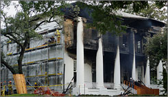 A fire swept through the historic Texas Governor's Mansion in Austin early in the morning on June 8.