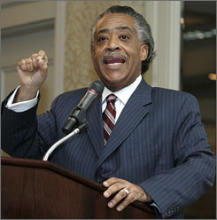 The Rev. Al Sharpton addresses the Southern Christian Leadership Conference in Kenner, Tuesday. The group, founded in New Orleans, is holding its 50th anniversary convention in the area this week.