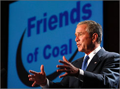 President Bush told an audience in White Sulphur Springs, W.Va., Thursday that coal figures into his plan to help America secure and use energy more efficiently.